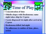 time of play