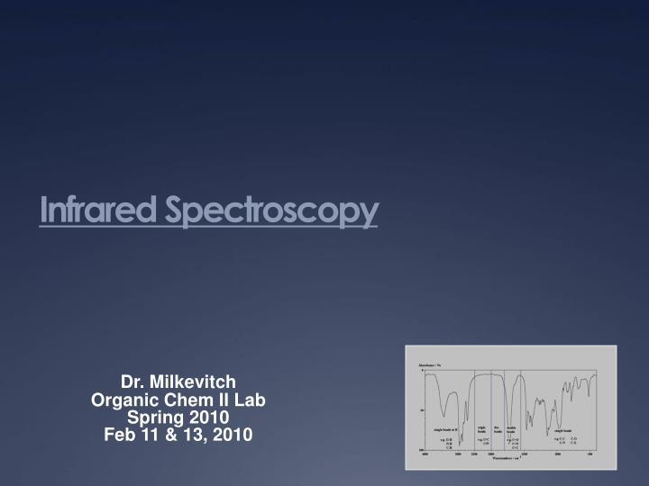infrared spectroscopy n.