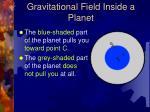 gravitational field inside a planet1