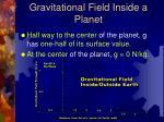 gravitational field inside a planet2
