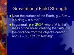 gravitational field strength1