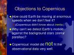 objections to copernicus