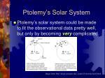 ptolemy s solar system