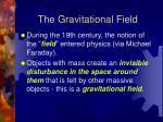 the gravitational field