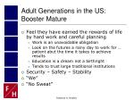 adult generations in the us booster mature