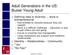 adult generations in the us buster young adult