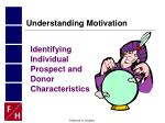 identifying individual prospect and donor characteristics