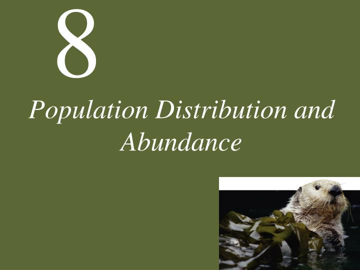 population distribution and abundance n.