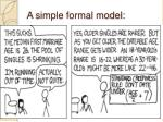 a simple formal model