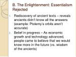 b the enlightenment essentialism rejected