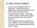 e why formal models