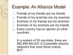 example an alliance model