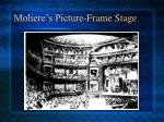 moliere s picture frame stage