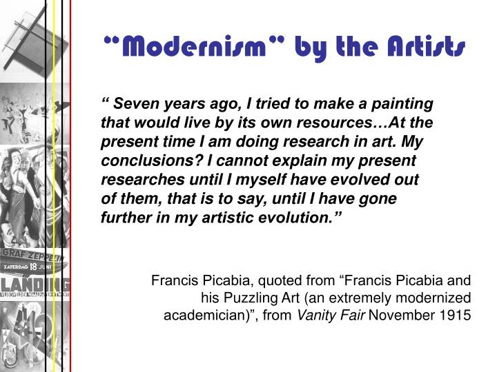 """""""Modernism"""" by the Artists"""