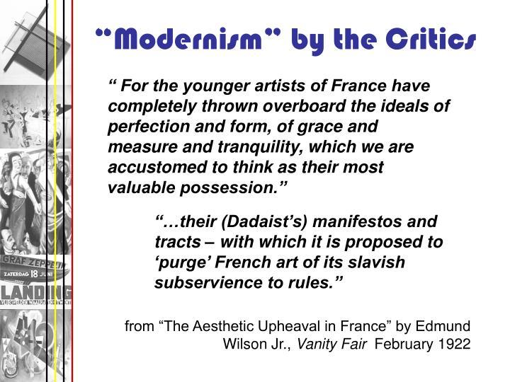 """Modernism"" by the Critics"