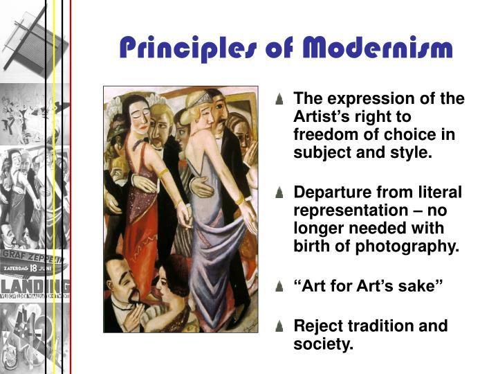 Principles of Modernism