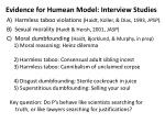 evidence for humean model interview studies