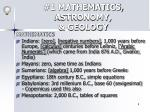 1 mathematics astronomy geology