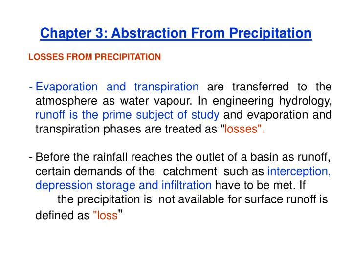 chapter 3 abstraction from precipitation n.