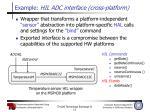example hil adc interface cross platform