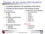 example hpl adc interface msp 430 platform