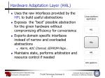 hardware adaptation layer hal