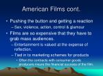 american films cont