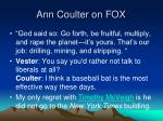 ann coulter on fox