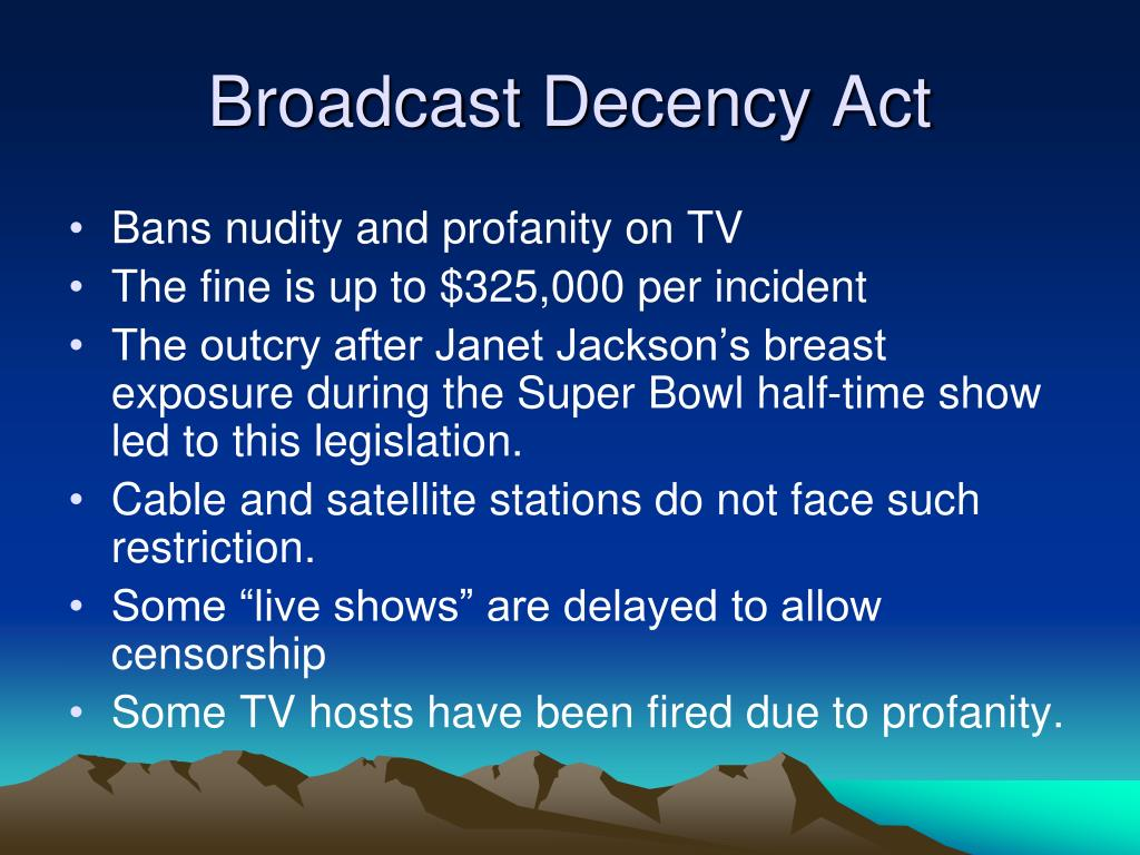 Broadcast Decency Act