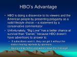 hbo s advantage