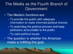 the media as the fourth branch of government