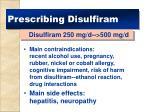 prescribing disulfiram