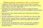 mathematical economics pryor and daniels1