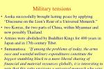military tensions