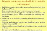 potential to improve non buddhist economies alexandrin