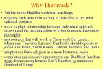why theravada