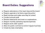 board duties suggestions