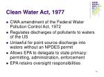 clean water act 1977