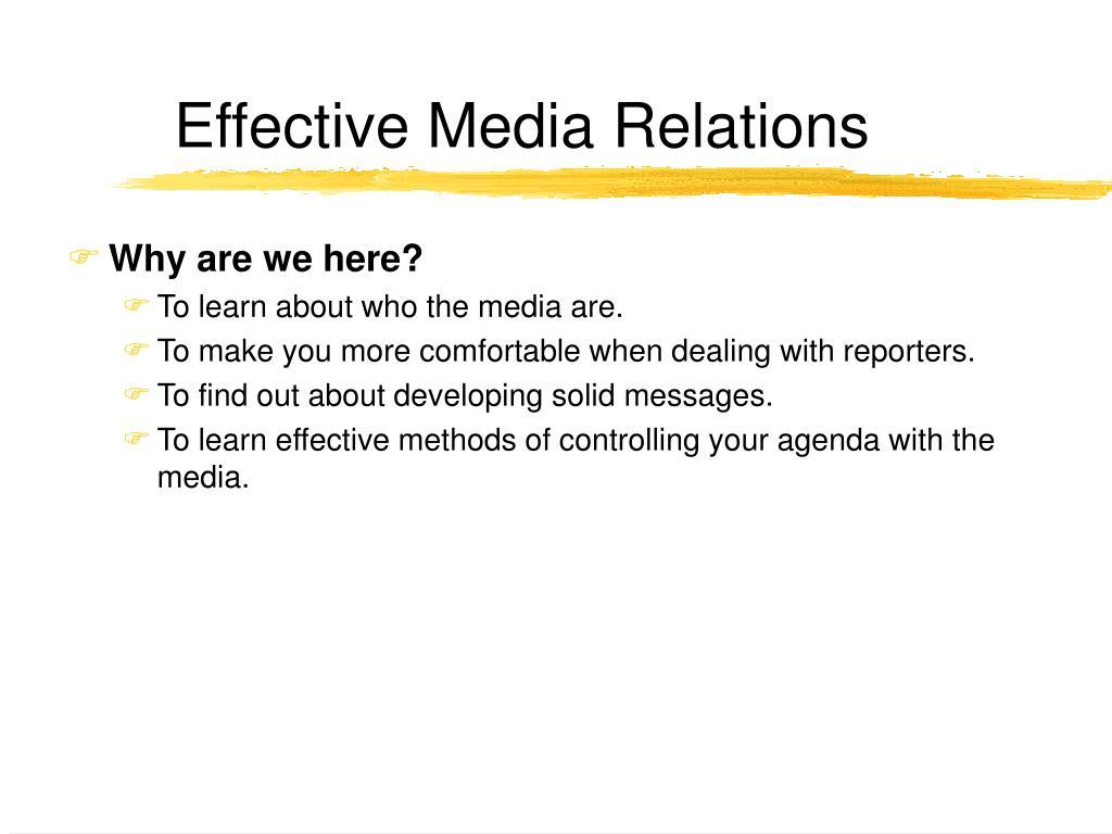effective media relations l.