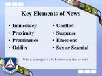 key elements of news