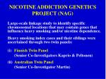 nicotine addiction genetics project nag