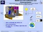 modis on orbit calibration and characterization