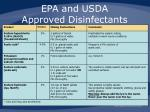 epa and usda approved disinfectants
