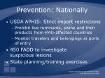 prevention nationally