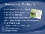 prevention on the farm