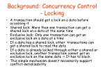 background concurrency control locking