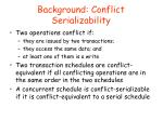 background conflict serializability