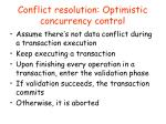 conflict resolution optimistic concurrency control