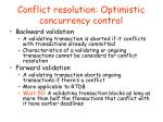 conflict resolution optimistic concurrency control1