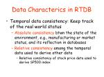 data characterics in rtdb